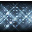 dark shiny blue abstract tech futuristic vector image