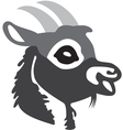 The head of goat 2 vector image