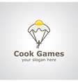cook games logo vector image vector image
