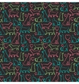 seamless pattern with cats and dogs on blackboard vector image