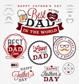 Best Dad Badges and Labels in Vintage Style vector image