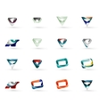 Set of various geometric icons vector image