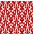 Red and white waves japanese pattern vector image