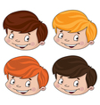 set of head boy vector image