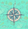 Colored and sketched compass vector image