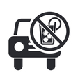 drunk drive icon vector image