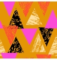 Hand painted bold pattern with triangles vector image