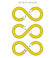 infinity design vector image