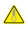 Lynching attention loop executioner on yellow vector image
