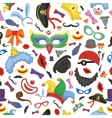 Party photo booth props seamless pattern vector image