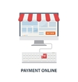 Payment online concept flat vector image