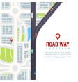 road navigation poster vector image