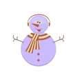 Snowman with funny face vector image