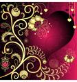 vintage valentine card vector image vector image