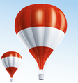Hot balloons painted as Austria flag vector image