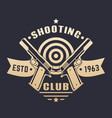 Shooting club logo emblem with two pistols vector image