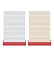 Store shelf vector image