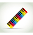 Colorful Piano rol vector image vector image