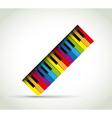 Colorful Piano rol vector image vector image