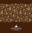 coffee horizontal brown vector image