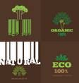 set or organic signs and logo design elemen vector image