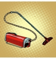 Retro vacuum cleaner home appliances vector image