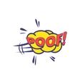 Poof Comic Speech Bubble vector image