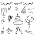 Hand draw doodle party vector image