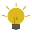 yellow lightbulb icon vector image