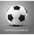 Blank photo realistic isolated on grey football vector image