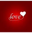 Love hand drawn poster vector image