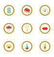 present icons set cartoon style vector image