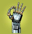 robot ok okay gesture hand vector image