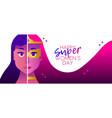 superhero womens day 2018 heroine concept banner vector image
