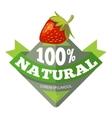 Organic natural fruits logo label badge vector image vector image