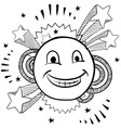 doodle pop smiley face vector image
