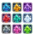Fairy cartoon square app icons set vector image