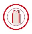 sleeveless shirt clothes vector image