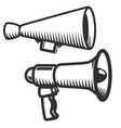 set of megaphones icons isolated on white vector image
