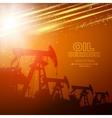 Pump Jack Oil Crane vector image vector image