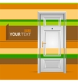 white door in the wall for text vector image
