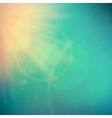Abstract Sunset on sky with lenses flare vector image