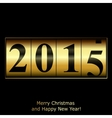 Abstract golden New Year counter vector image vector image