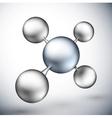 3d molecule vector image