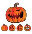 Halloween Holiday Pumpkin Jack O Lantern Set vector image