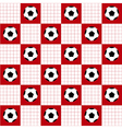 Football Ball Red White Chess Board Background vector image