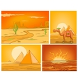 cartoon set of desert backgrounds vector image