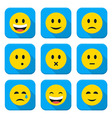 Character Emotions App Icons Set Isolated over vector image