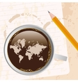 coffee with map vector image