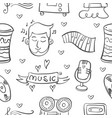 collection stock musical instrument doodles vector image